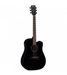 Cort MR E BKS Semi Acoustic Guitar Black Satin