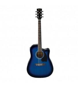 Ibanez PF15ECE TBS Semi Acoustic Guitar Transparent Blue