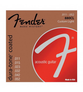 Fender 880CL Acoustic Guitar Strings 80/20 Coates 11 -52