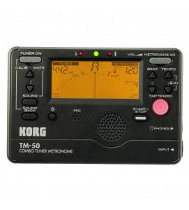 Korg TM 50 BK Tuner Metronome Black