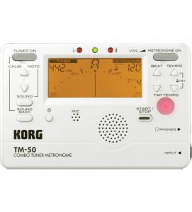 Korg TM 50 PW Tuner Metronome White
