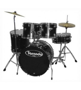 Mapex Tornado TNM5254TCUDK Drum Set 5 Piece with Hardware Throne and Cymbals Black