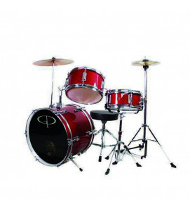 Ddrum D1 CRD Junior Drum Set 5 Pcs with Hardware Throne and Cymbals Candy Red
