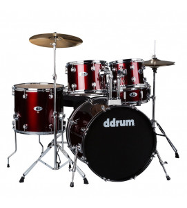 Ddrum D2 BR Drum Set 5 Pcs with Hardware Throne and Cymbals Blood Red