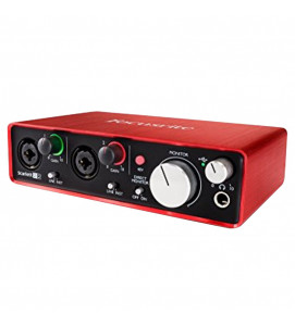 Focusrite Scarlett 2i2 (2nd Gen) USB Audio Interface with Software(Protools/Ableton)
