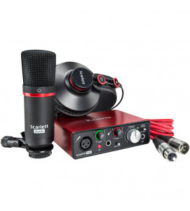 Focusrite Scarlett SOLO Studio (2nd Gen) USB Audio Interface with Software(Protools/Ableton)
