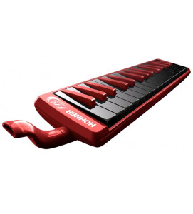 Hohner C943274 Melodica 32 Keys Fire Red -Black