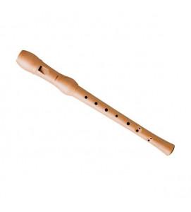 Hohner B9560 Descant Recorder Wooden Baroque Key C Dark Finish