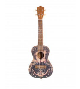 BAMBOO Freedom Concert Ukulele Dreams Series Acoustic | For Beginners and Professionals | Sapele & Walnut | With Gig Bag (New Generation)