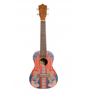 BAMBOO Vintage Concert Ukulele Dreams Series Acoustic | For Beginners and Professionals | Sapele & Walnut | With Gig Bag (New Generation)