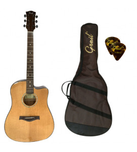 Grail Performance Edition D500C Nat  Acoustic Guitar Cutaway Solid Spruce Top