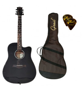 Grail Performance Edition D500C BK Acoustic Guitar Cutaway Solid Spruce Top