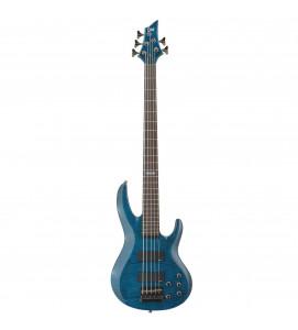 ESP LTD B 155 DXSTB Electric Bass 5 String See Thru Blue