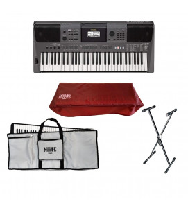 Yamaha PSR I500 Portable Keyboard with Bag, Stand and Dust Cover