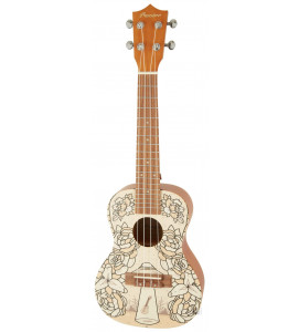 BAMBOO Terra Concert Ukulele Dreams Series Acoustic | For Beginners and Professionals | Sapele & Walnut | With Gig Bag (New Generation)