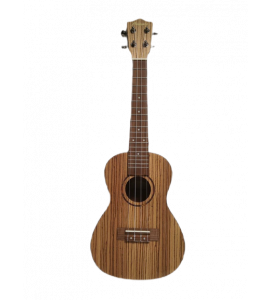 BAMBOO Zebrano Concert Ukulele Classic Series Acoustic | For Beginners and Professionals | Wood Zebrano & Walnut | With Gig Bag (Special Edition)