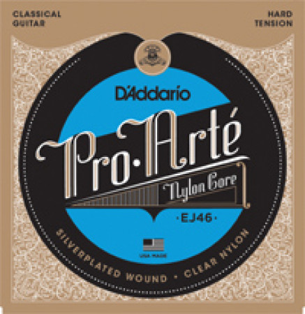 D'Addario Classical Guitar Strings Pro Arte Hard Clear Set EJ46