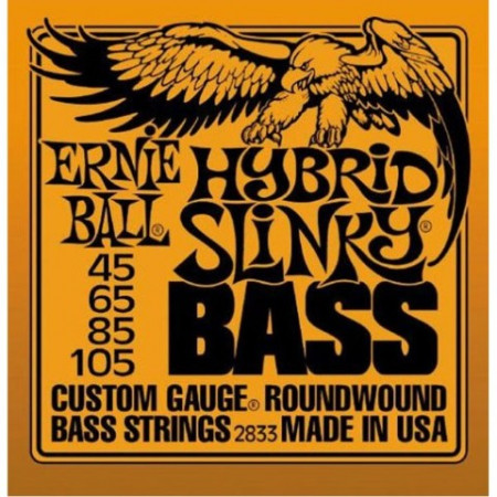 Ernie Ball2833 Hybrid Slinky Round Wound Bass Guitar Strings