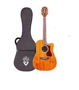 Guild D-120CE Semi Acoustic Guitar Natural with Bag