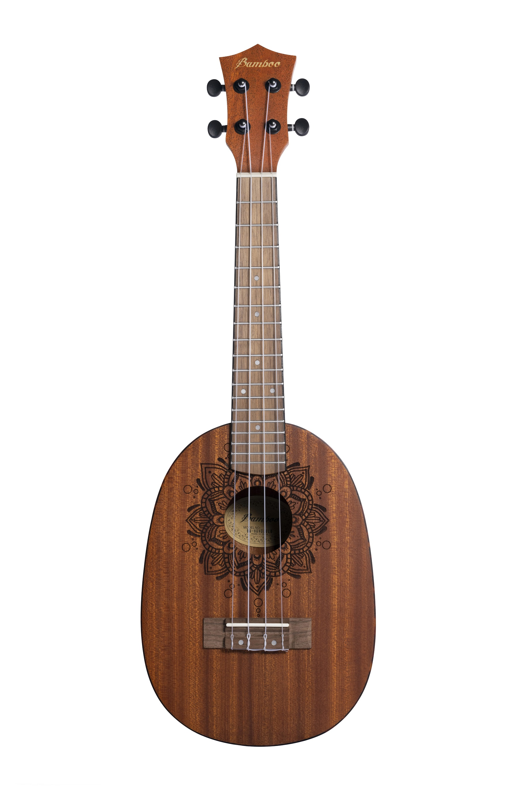 BAMBOO Honolulu Concert Ukulele Earth Series Acoustic | For Beginners and Professionals | Sapele & Walnut | With Gig Bag (New Generation)