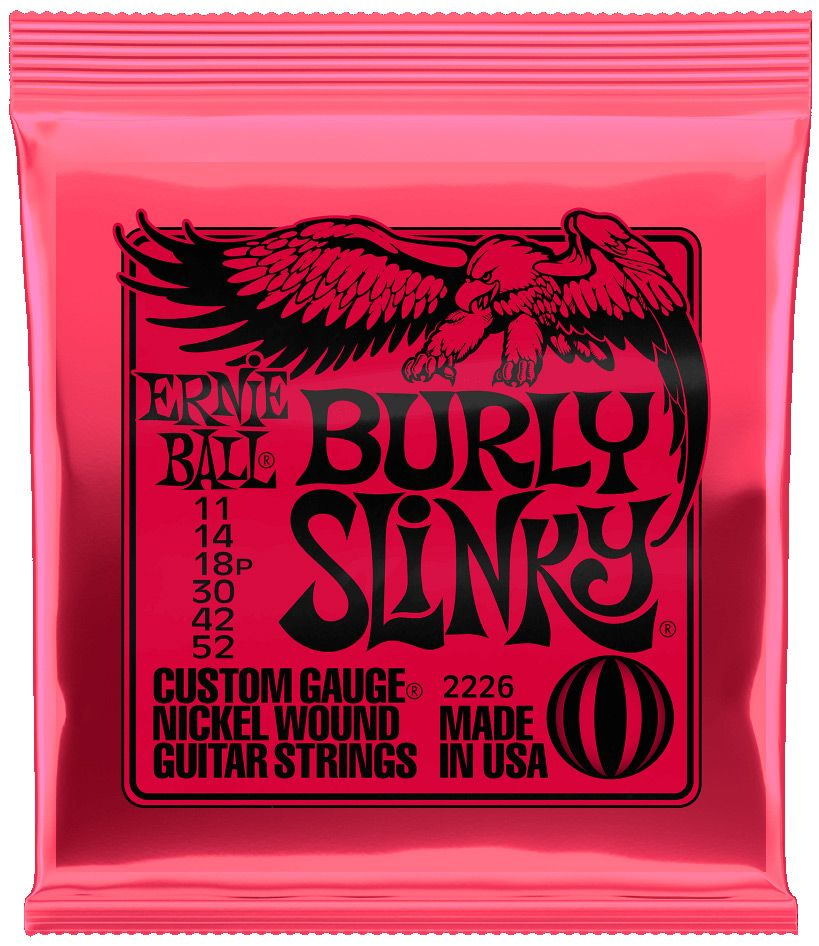 Ernie Ball 2226 Nickel Burly Slinky Electric Guitar Strings 10-52