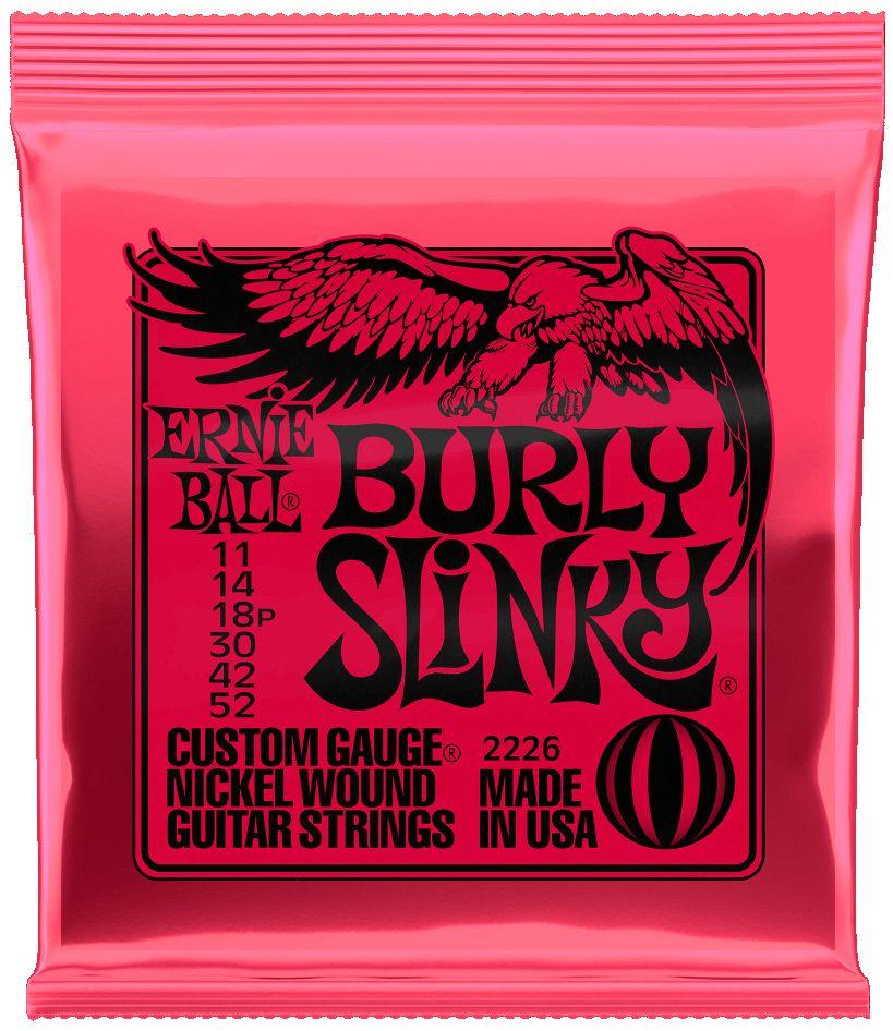 Ernie Ball 2226 Nickel Burly Slinky Electric Guitar Strings 11-52
