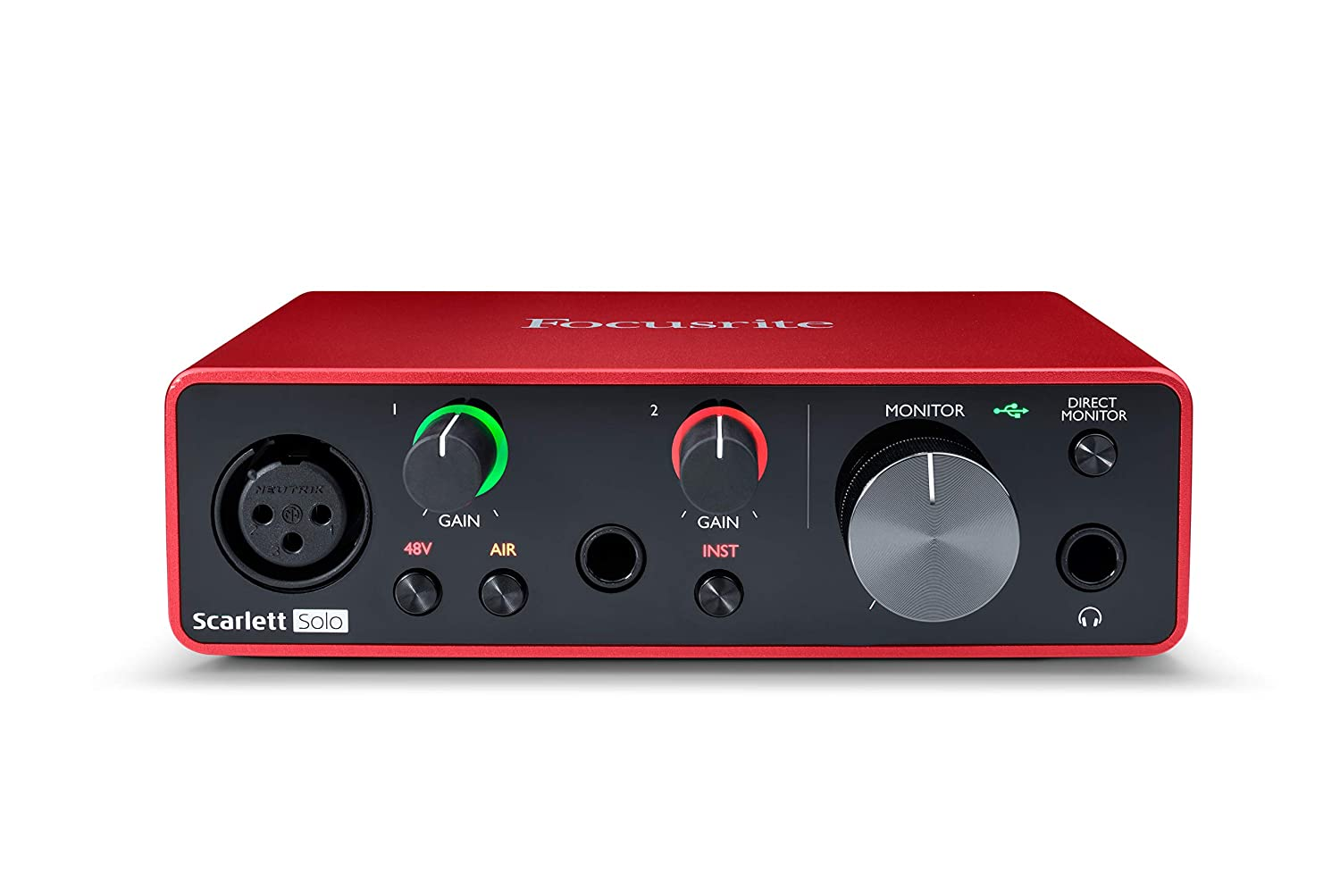 Focusrite Scarlett SOLO (3rd Gen) USB Audio Interface with Software(Protools/Ableton)
