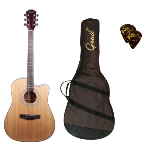 Grail Aspire D120C Acoustic Guitar Cutaway Spruce Top