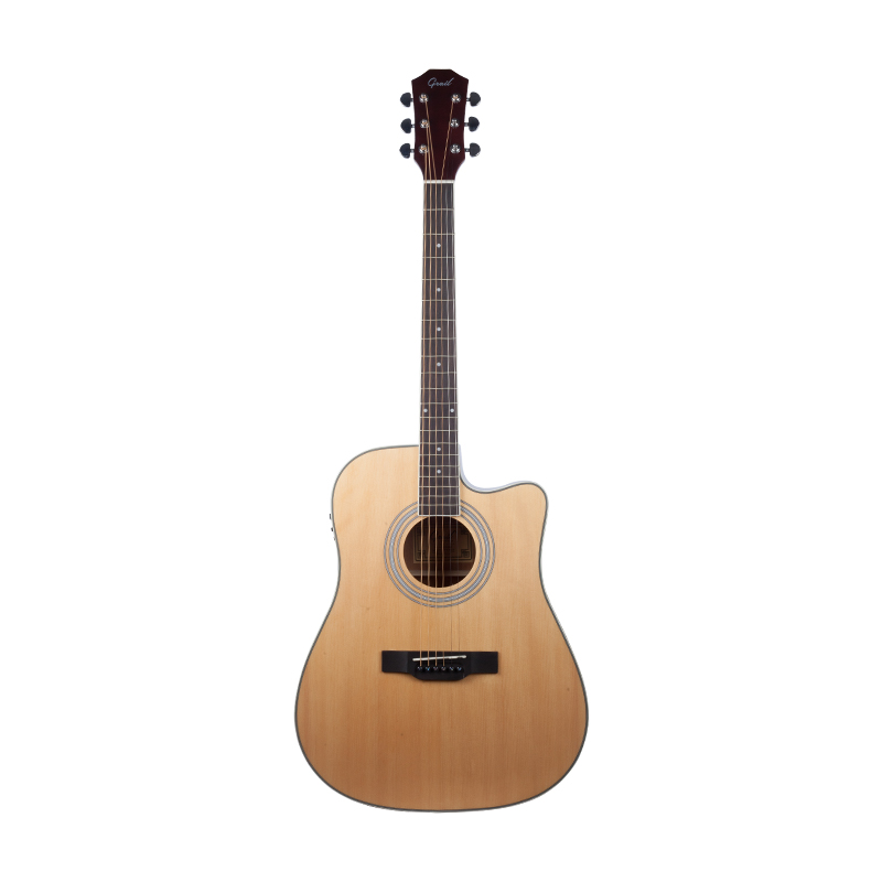 Grail AG-D120CE Semi Acoustic Guitar Cutaway Spruce Top with Tuner and  EQ