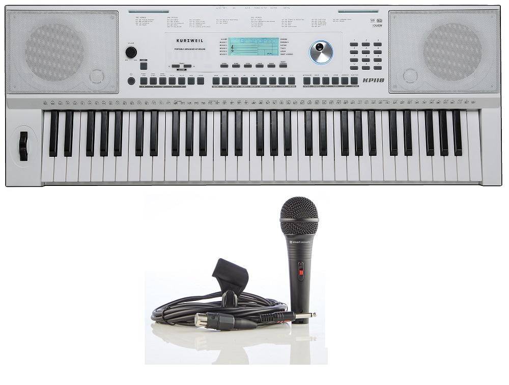 Kurzweil KP110 WH 61 keys Arranger Keyboard White with Microphone
