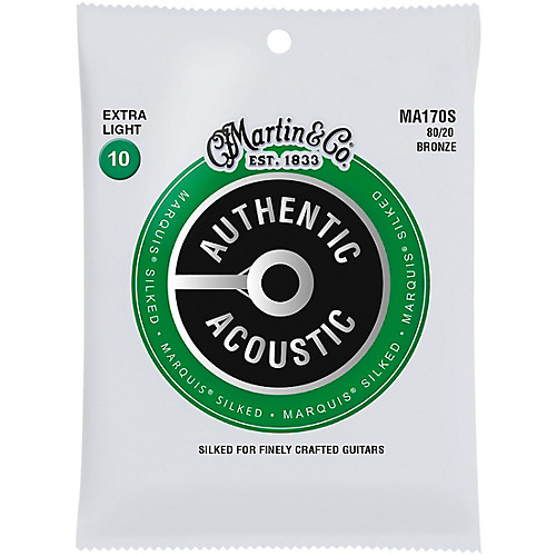 Martin MA170S Marquis Silked Acoustic Guitar Strings Set Extra Light 10-47