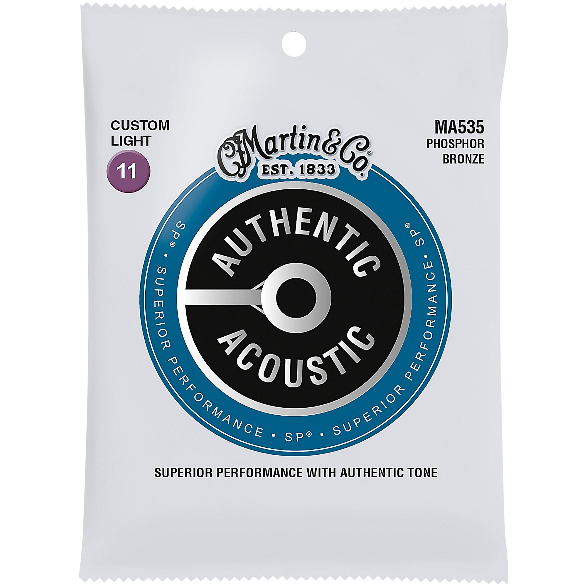 Martin MA535 Acoustic Guitar Strings Set Custom Light 11-52
