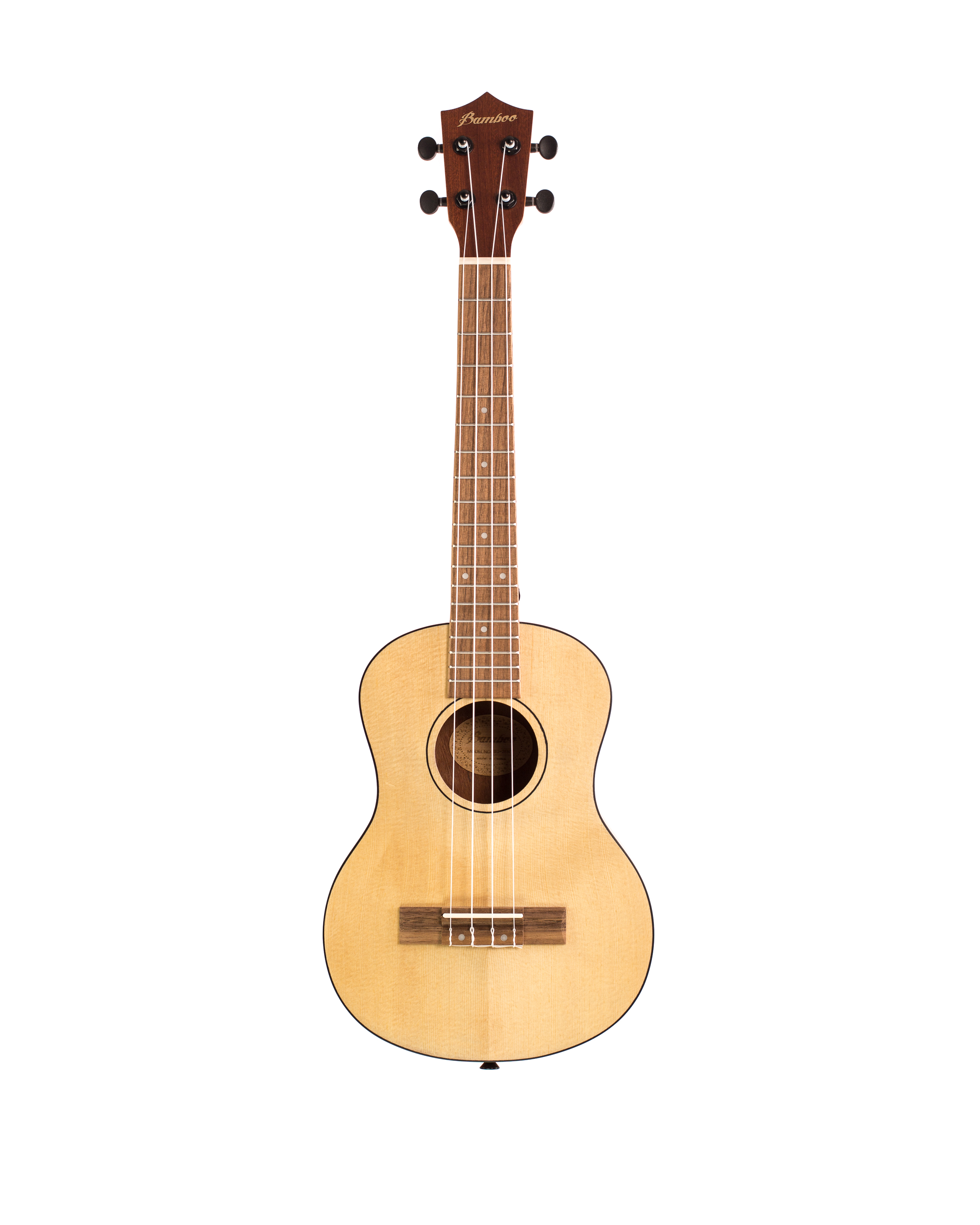 BAMBOO Natural Classic Tenor Ukulele Classic Series Acoustic | For Beginners and Professionals | Wood Spruce, Sapele & Walnut | With Gig Bag (Special Edition)